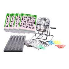 Bingo Spiel / bingotrommel mit 75 Bällen Spielechips und extra 2000 Spielkarten