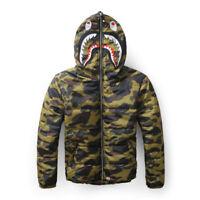 Men's Camo A Bathing Ape Hooded Jacket Hoodie Full Zip Thicken Coat Outwear Tops