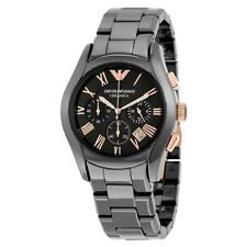 NEW EMPORIO ARMANI CERAMICA ROSE GOLD BLACK ROSE AR1410 MEN'S WATCH UK