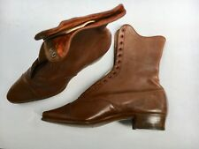 Womens' vintage 1880's English leather boots