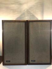 Pair of Vintage Advent Loudspeaker 2-Way Speakers w/ Walnut Cabinets.