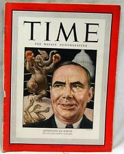 TIME MAGAZINE 18 NOVEMBER 1946 REPUBLICAN'S JOE MARTIN  VINTAGE NEWS & EVENTS
