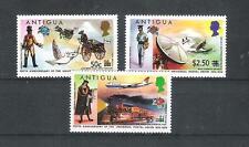 Antigua 355 - 57 Postage Stamps with Overprint (MNH)