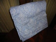 RAYMOND WAITES BLUE PAISLEY FULL FLAT SHEET 300TC COTTON SATEEN 76 X 96