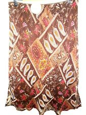 TARGET Georgette SKIRT size 18 NEW&tags chocolate patchwork paisley vintage work