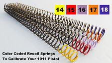 Colt Government 1911 Recoil Calibration Spring Pack - 14,15,16,17,18 (set of 5)