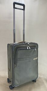 Briggs & Riley Baseline Olive CX Expandable Carry-On Spinner Luggage U122CXSP