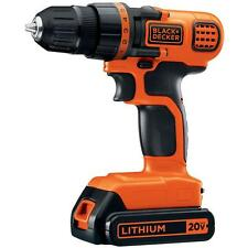 BLACK & DECKER LDX120C 20-Volt MAX Lithium-Ion Cordless Drill/Driver and NEW