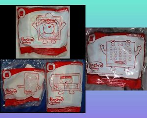 McDonald's Hasbro Happy Meal Games x 4, Connect 4, Trouble, Twister & Monopoly