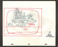 "Flintstones Animation Art - Pebbles ""Rock Rockstone"" Dinosaur Rises Stage"