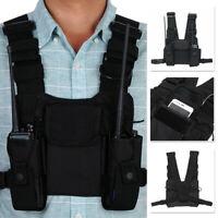New Pocket Chest Pack Bag Harness For Motorola  UV-5R UV-82 Two Way Radio Black