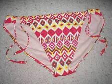 Plus Size 20 Orange Red White Yellow Tie Bikini Bottom Only BNWT