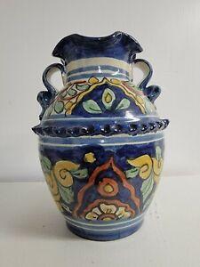 """Talavera Pottery Vase 8 1/2"""" x 6"""" x 8"""""""