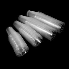 100X Clear Plastic Environmental-Friendly Disposable Beverage Cups New Bulk SS
