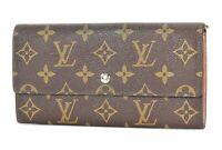 Authentic LOUIS VUITTON Monogram Long Wallet Zippered Coin Purse #34256
