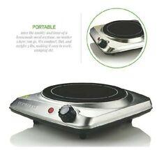 Ovente Electric Glass Infrared Burner 7 Inch Single Hot Plate Silver BGI101S