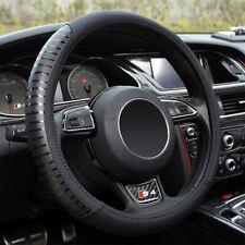 38cm Black Microfiber Leather Car Steering Wheel Cover Breathable Non-Slip Grips