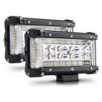 "2pcs 5"" Side Shooter LED Light Bar 264W Spot Flood Combo Work Fog for Truck Jeep"