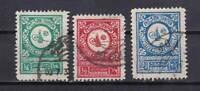 Saudi Arabia stamps #135 - 137, full set, used, 1932, SCV $46.25