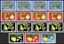 "French Polynesia O1-O15, MNH. Fruits:Breadfruit,""Vi-Tahiti"",Avocados,Mangos,1977"