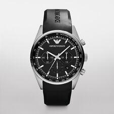 Mens Emporio Armani AR5977 Black Sportivo Rubber Chronograph Watch