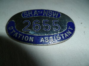 aust SRA of NSW cap badge for station asst   #2655 nice used cond