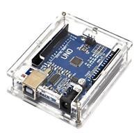 UN3F Arduino ATmega328P CH340G UNO R3 Board + USB Cable +Acrylic Box Case Kit