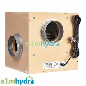 Tornado Silent Acoustic Wooden Box Fan 200mm 8 Inch 1500m3/hr Hydroponics