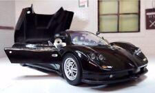 Pagani Zonda C12 Detallado Motormax Fundido Modelismo Coche Negro 73272G 1:24