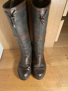 Dubarry Glanmire Boots 39/6 Brown/Black. Excellent Condition