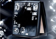 V Rare DIOR 002 NIGHT DIAMOND Black Enamel L Swarovski Powder Compact New No Box