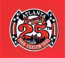 ATLANTA BRAVES 25th ANNIVERSARY IN ATLANTA EMBROIDERED AUTHENTIC PATCH - 1990
