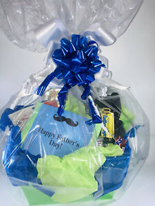 50pc Father's Day Gift Basket Filled Tools, Snacks, Men's Grooming Accessories +