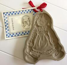 Brown Bag Cookie Art Stone Cookie Mold RAGGEDY ANN 1985 Unused Small Chip