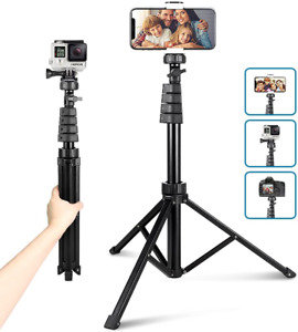"""62"""" Phone Tripod Stand Cell Phone Gopro Camera Mount Holder w Bluetooth Remote"""