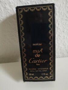 must de Cartier 50ml PARFUM Recharge Vaporisateur Refill Natural.   2x gesprüht