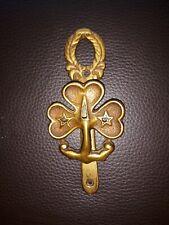 More details for rare vintage girl guides brass trefoil badge door knocker