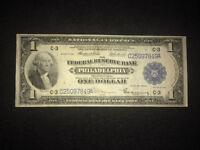 $1 1918 FEDERAL RESERVE BANK NOTE BOLD CRISP HIGH GRADE ABSOLUTELY STUNNING