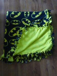 New Batman Handmade Fleece Double Sided Blankets, Two Layers, No Sew