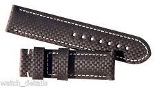 Carbon Fiber Deployant Watch Band Strap  24mm  125/80 Regular