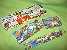 VINTAGE Stationary 1993 Warner Bros. LOONEY TUNES 4 Pencils and 2 PENCIL CASES