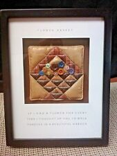 Flower Basket quilt shadow box by Spiritual Harvest made in China