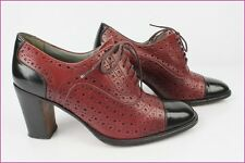Zapatos STEPHANE KELIAN París En Piel Burdeos y negro T 4 / 37 MUY BUEN ESTADO