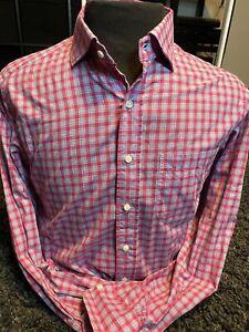 SID MASHBURN Blue Pink Plaid Longsleeve Button Down Shirt Medium M