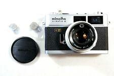 Minolta HI-Matic E (Silver/Black) Rangefinder 35mm Film Camera Free 2-3 Day Ship