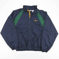 Vintage REEBOK Navy Blue Embroidered Logo Sports Track Jacket Men's Size XL