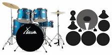 """Schlagzeug Komplettset plus Dämpfer XDrum Semi 22"""" blau Drumset mit Zubehör"""