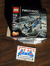 Lego Technic 42020 Twin Rotor Helicopter Stickers & Box Only