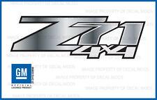 set of 2 - Z71 4x4 Chevy Silverado 07-13 Decals Stickers Fade Steel - GRSTEEL