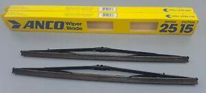 "2 New ANCO 25-15 Premium 15"" Windshield Wiper Blade Replacement 380 mm"